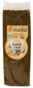 Spaghetti bio din grau dur cu usturoi si busuioc