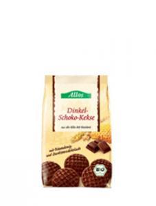 Biscuiti bio inveliti in ciocolata neagra
