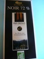 Ciocolata bio neagra 72% cacao