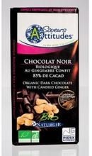 Ciocolata bio neagra cu ghimbir, 85% cacao IGS