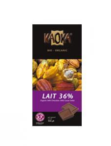 Ciocolata bio cu lapte si 36% cacao