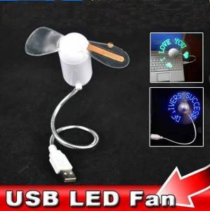Ventilator USB brat flexibil cu diverse mesaje luminoase