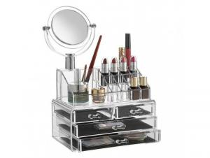 Organizator de cosmetice cu sertare si oglinda