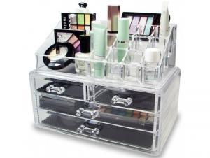 Organizator de cosmetice din acril transparent