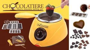 Aparat de topit ciocolata si set fondue Chocolatiere