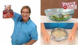 """Set de 4 folii alimentare din silicon reutilizabile """"Stretch and Fresh"""""""