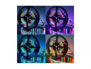 Kit banda LED cu alimentator si telecomanda RGB SMD5050-60/M