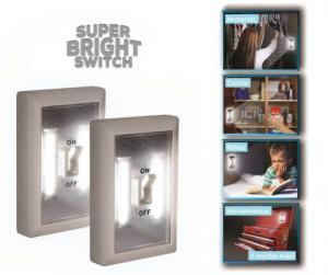 Set 2 Intrerupatoare Wireless Super Bright cu LED