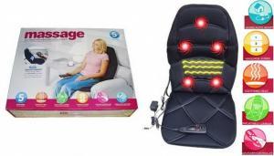 Saltea masaj cu perna de aer si incalzire pentru masina sau acasa JB-100C