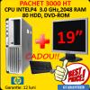 Pachet second hp dc7600 intel pentium 4, 3.0 ghz,2048ram 80hdd dvd +