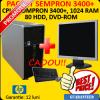 Monitor lcd 15 inch + hp dc5750, sempron 3400+, 1 gb,