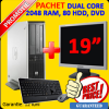 Monitor lcd 19 inch + calculator hp dc5750 desktop,