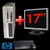 Super pachet hp dc7700 sff, core 2 duo e6300,