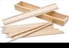Set lemn natur 12 creioane cutie lemn cu capac rigla