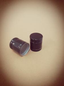 Capac aluminiu prefiletat D 30*35 negru