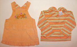 Rochita si bluzita orange de fetite - 4469