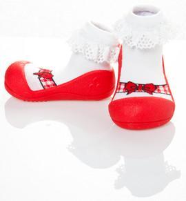 Incaltaminte fetite Ballet Red Large - ATPAB01-Red-L