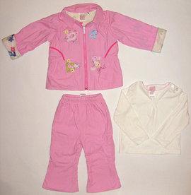 Costum roz captusit pentru fetite - 4410'
