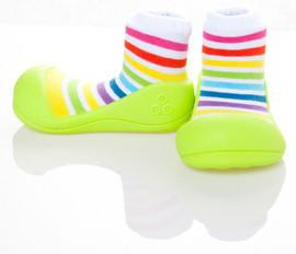Pantofi-soseta copii Rainbow Green XL - ATPAR04-GREEN-XL