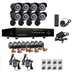 Sistem pentru interior/exterior DVR cu 8 camere