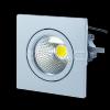 3W Spot LED Downlight COB Patrat - Alb Cald 3000K