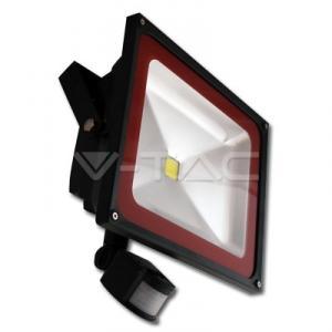 50W Proiector LED Sensor PREMIUM Bridgelux- Alb Rece 6000K
