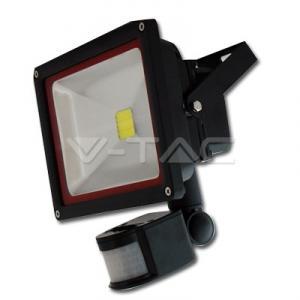 30W Proiector LED V-TAC cu senzor Alb Cald 3000K