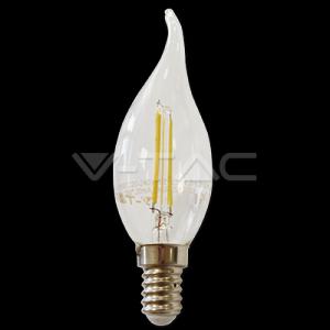 2W Bec LED Filament E14 Flacara 2700K