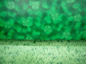 Linoleum Fantasy clover green