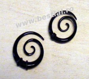 Taper spiral negru model 1 (AC322)(FTC)