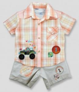 Compleu - pantaloni, camasa si tricou - 1 Race - Haine bebelusi