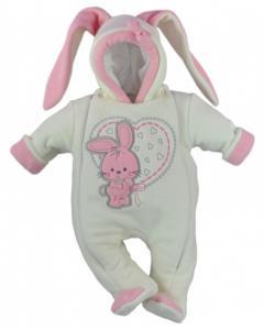 Combinezon fetite alb - Bunny Heart