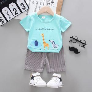 Costum bebelusi cu tricou turcoaz - Safari