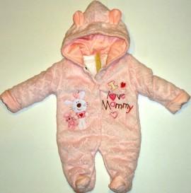 Salopeta captusita roz - I love mammy - Haine Bebe