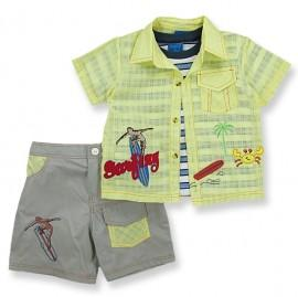 Compleu - pantaloni, camasa si tricou - Surfing - Haine bebelusi