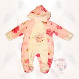 Salopeta cu flori roz - Haine Bebe