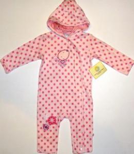 Salopeta bebe roz cu gluga - Haine Bebelusi