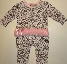 Salopeta bebe leopard - Haine Bebelusi