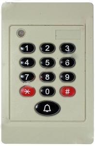 Tastatura plastic, pentru sisteme de securitate