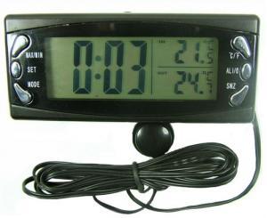 Ceas si termometru auto cu senzor de interior/exterior