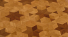 Parchet intarsiat masiv stejar - hexagon