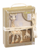 Set Prestige SO PURE Girafa Sophie cu breloc Vulli 616329 B3902500
