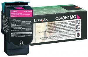 Toner lexmark 0c540h1mg magenta