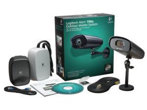 Sistem supraveghere ALERT 750E, camera Logitech Alert exterior, soft monitorizare, adaptoare retea, Logitech 961-000341