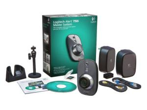 Sistem supraveghere ALERT 750I, camera Logitech Alert interior, soft monitorizare, adaptoare retea, Logitech 961-000333