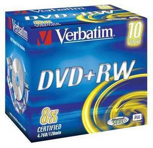 Dvd+rw 8x 4.7gb jewel case