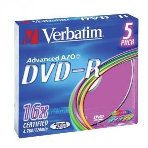 Verbatim dvd+r 16x 4.7gb slimcase