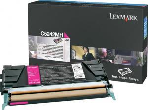 Toner lexmark c5242mh magenta