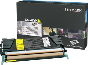 Toner lexmark c5242yh galben
