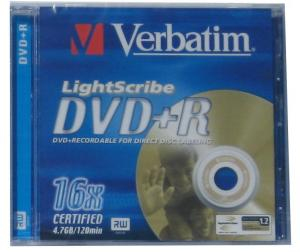 Verbatim dvd+r 16x 4.7gb lightscribe